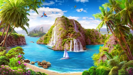 Paradise view other abstract background wallpapers on desktop nexus image 2105382 - Paradise pictures backgrounds ...