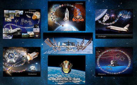 Space Shuttle Anniversary - space, shuttle, flight, columbia, space station, challenger, discovery, endeavour, atlantis
