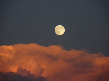 full moon above the storm clouds - right, just, time, this