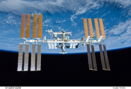 The International Space Station over Earth - space, earth, cool, space station, fun