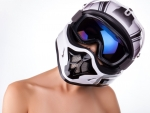 Beautiful girl with helmet