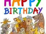 Happy Birthday from your Pets