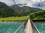 bridge over turquoise rver