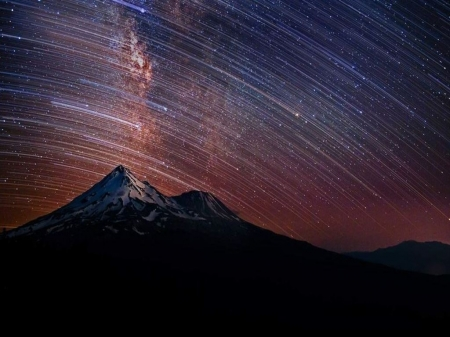 Mountain and stars - Milky way, Stars, Bing, Mountain