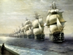 Sailing Ships in a Row