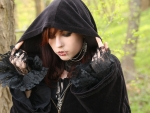 Gothic Girl with Cape
