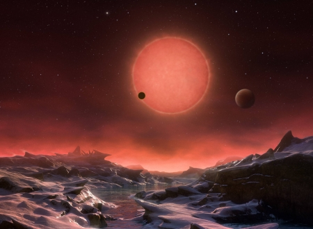 Three Worlds for TRAPPIST-1 - space, cool, galaxy, stars, fun
