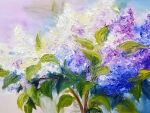 Painted Lilac Bouquet