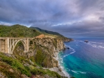 Blue Water at Bixby Bridge, Big Sur, California