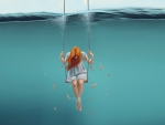 Swinging underwater