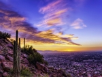 Sunset over Phoenix, Arizona