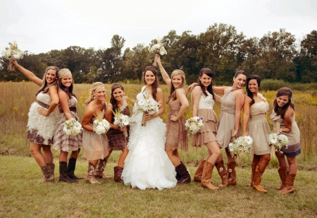 cowgirl wedding party