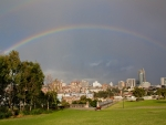Rainbow over a Park near Sydney, Australia