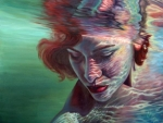 Red Head Underwater