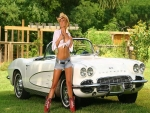 Corvette In Her Yard..