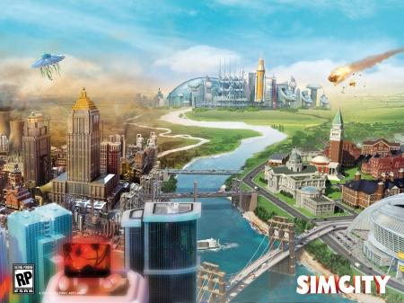 SimCity 2013 - The Sims & Video Games Background Wallpapers on ...