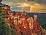 Rainbow over Bryce Canyon,Utah