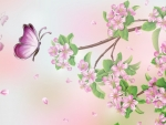 Plum Blossoms and Butterflies