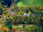 The Great Serpent Mound a pre historic effigy mound along Ohio Brush Creek in Ohio