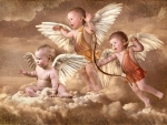 Cupid and angels