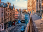 West Bow street in Edinburgh Scotland