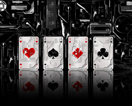 All Aces - ace, playing cards, for u ace, four aces, aces, negative, poker, ace card, card