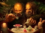 trolls drinking tea