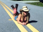 Road Block Cowgirl..