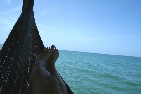 Relax - sea, hammock, ocean, nature