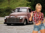 '48 Chevy Pickup and a Country Gal