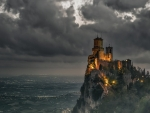 wonderful mountain top castle in san marino