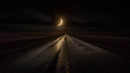 highway to a crescent moon