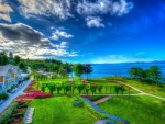 gorgeous lakeside resort hdr