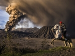 Mt. Bromo Eruption, Java, Indonesia