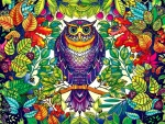 Whimsical Forest Owl F