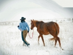Winter Cowgirl..