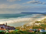 beautiful home overlooking a beach hdr