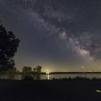 Firefly Trails and the Summer Milky Way