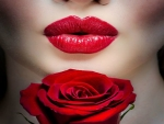 Red Lip's with Rose