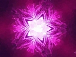 Bright pink star
