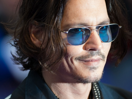 Johnny Depp - Johnny Depp, sunglasses, actor, man, male, smile, face