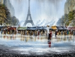 Paris in Rain F