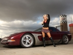 Hot Blonde & Corvette