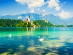 View of lake Bled-Slovenia