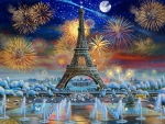 Fireworks in Paris