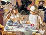 Little Girls' Teatime
