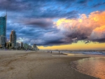 beautiful gold coast beach hdr