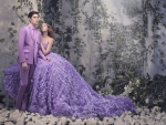 Couple in purple