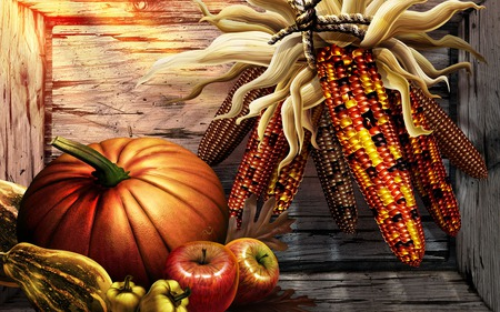 Thanksgiving Harvest - wds, thanksgiving, widescreen, harvest