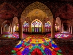 magnificent carpet lined mosque